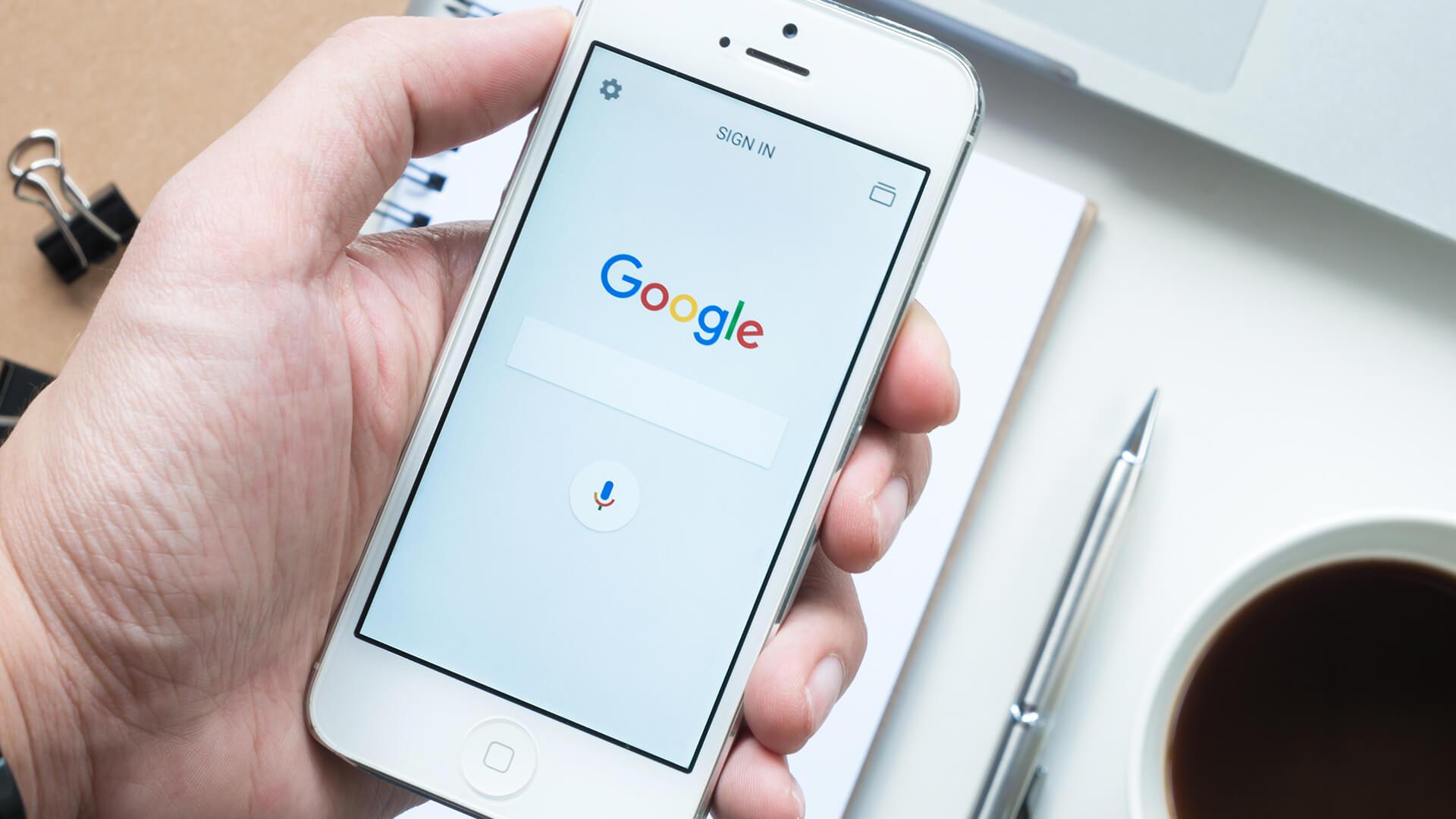 Celular Iphone Google App